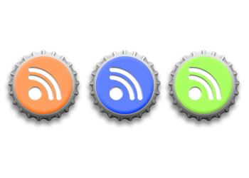 RSS Feeds Icons - Bottle Caps by neoworxspace