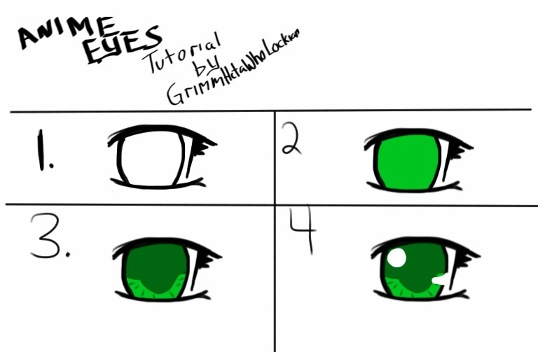 Simple Anime Girl Eyes Tutorial By Luna Tiger