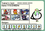 Yushen's trainer card XD by Genesis-the-vaporeon
