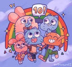 Happy 10th anniversary Gumball!
