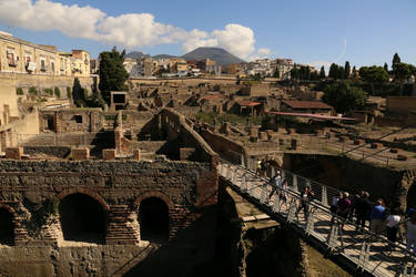 Vesuvius from Herculaneum by RichardEly