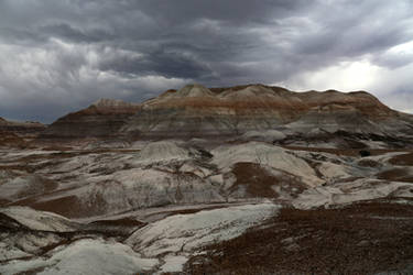 Storm over Blue Masa Badlands, Petrified Forest by RichardEly
