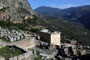 Delphi, Treasury of the Athenians by RichardEly