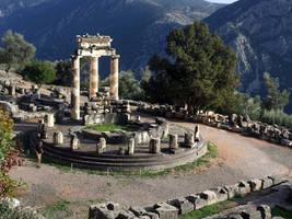 Delphi, Tholos at The Sanctuary of Athena by RichardEly