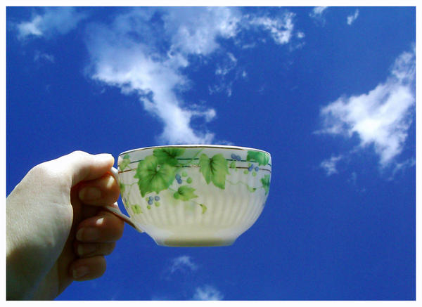 A cup of cloud by Malgorzata-Skibinska