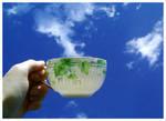 A cup of cloud by Malgorzata-Skibinska
