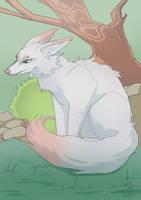 White fox by Shredderm