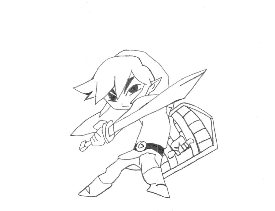 toon link coloring pages - deku link coloring pages