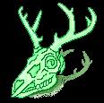 [F2U] Mint deer skull- left by JustSkygge