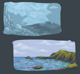 Landscapes #5 and #6