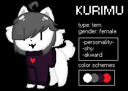 Kurimu Reference Sheet by creamy-pearl