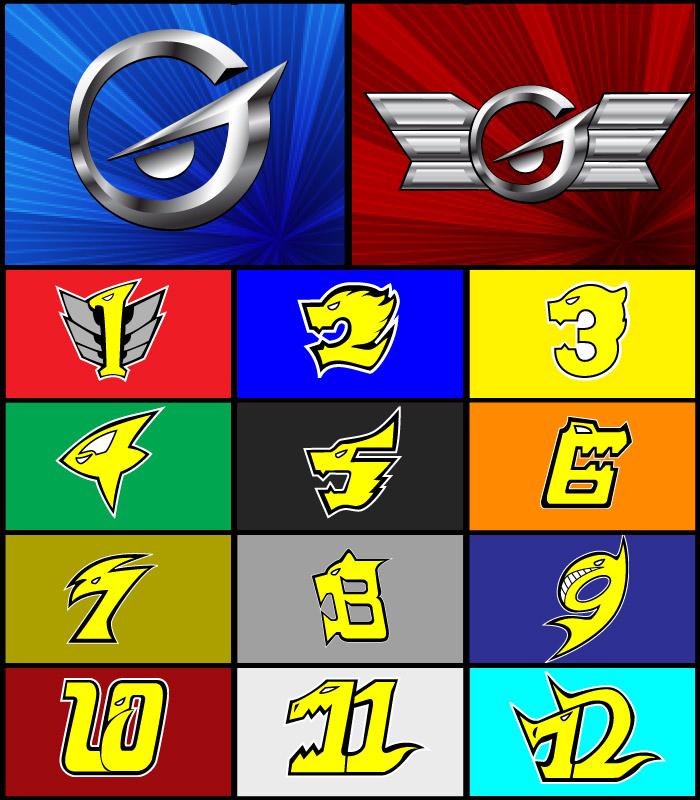 how to draw power rangers samurai symbols