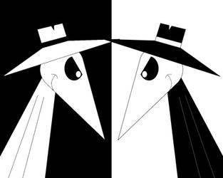 Black vs. white by Aldrine2004
