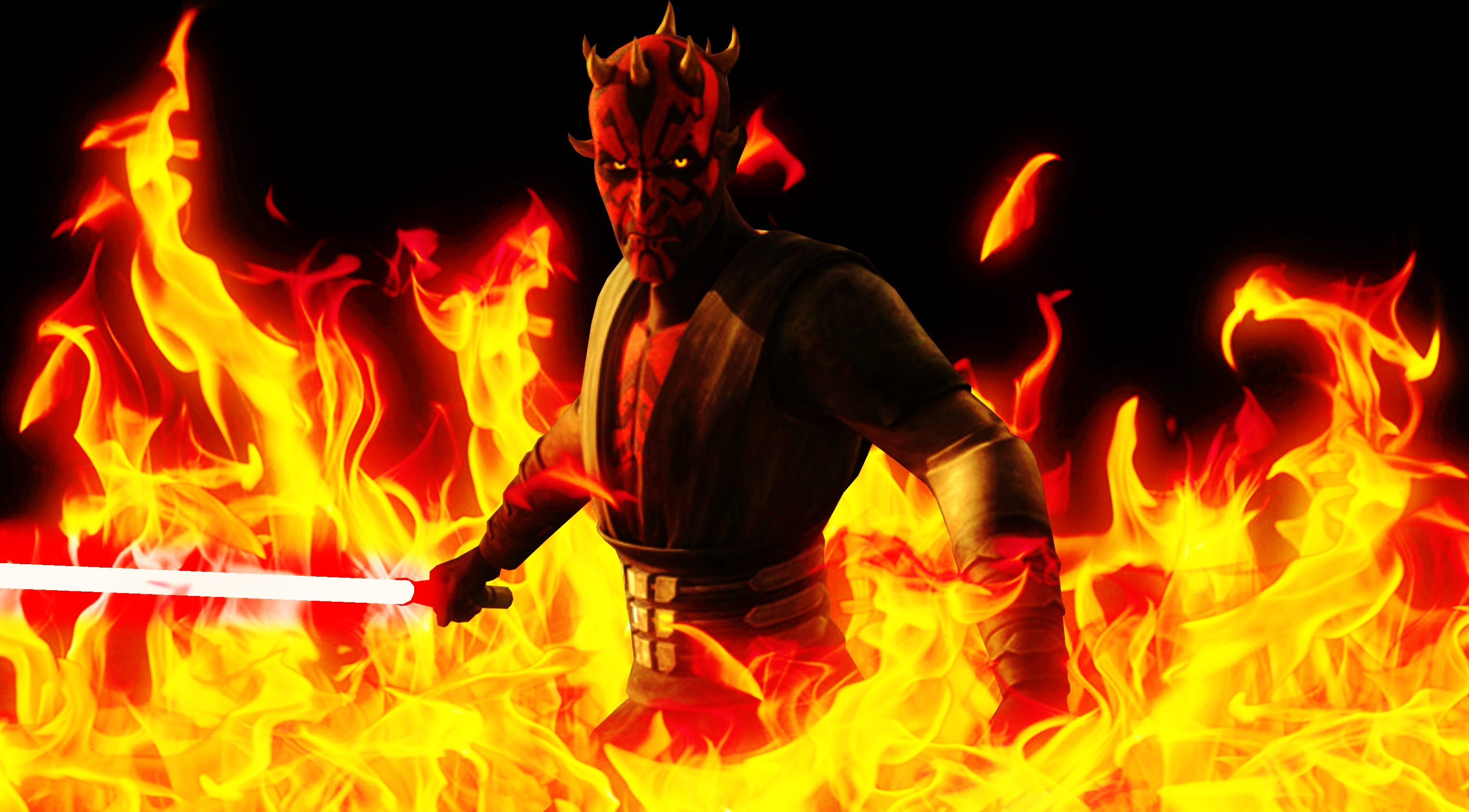 Angry Birds Star Wars Darth Maul Wallpaper Set For Mobile Tablet