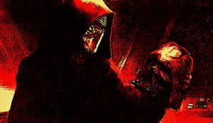 Kylo Ren Communes With Darth Vader's Helmet