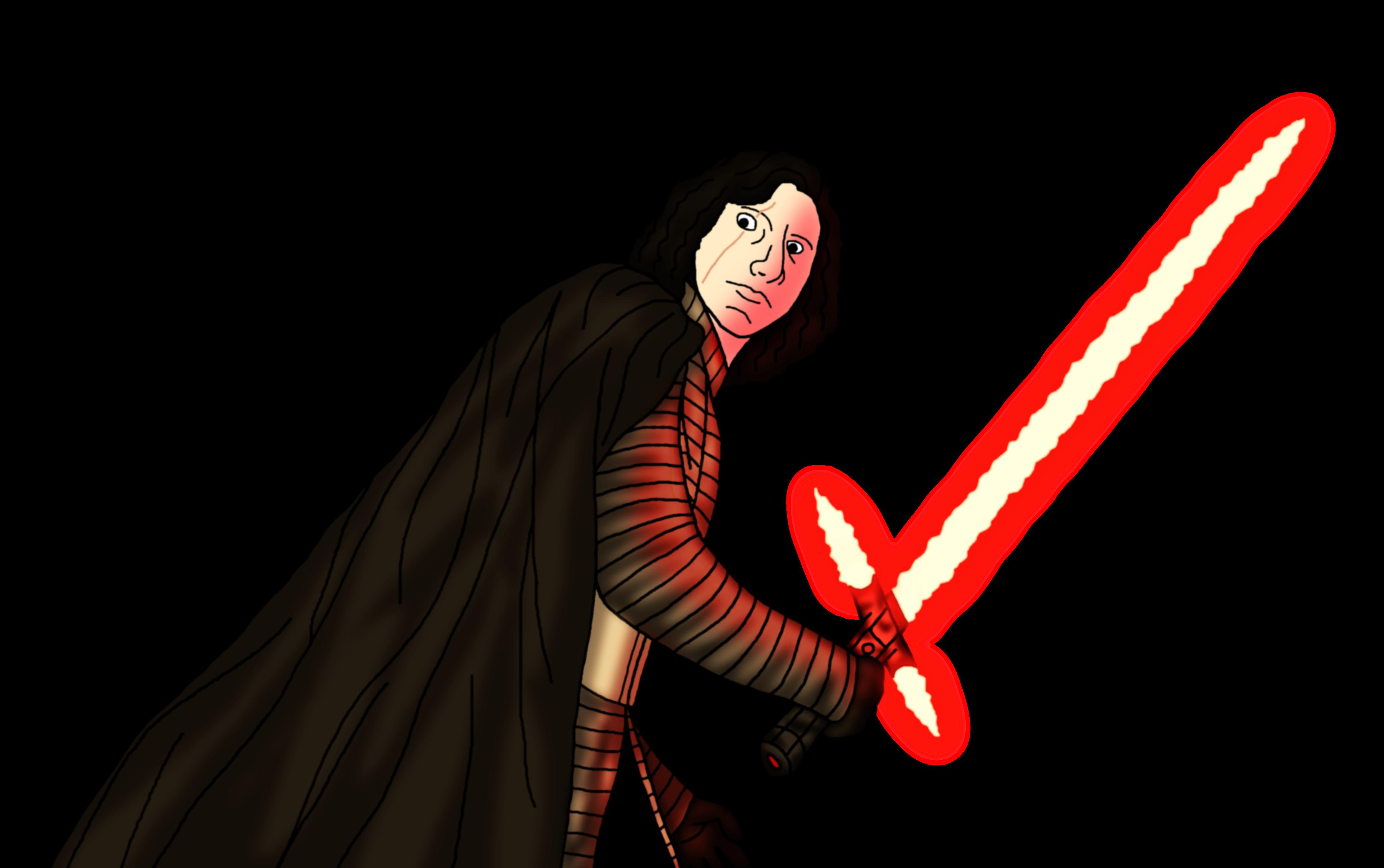 Last Jedi Wallpaper >> Kylo Ren in The Last Jedi (Unmasked) by Jones6192 on DeviantArt