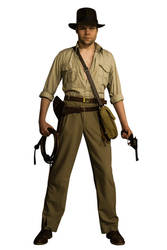 Indiana Jones Cosplay Full Body Stock #1 by Jones6192