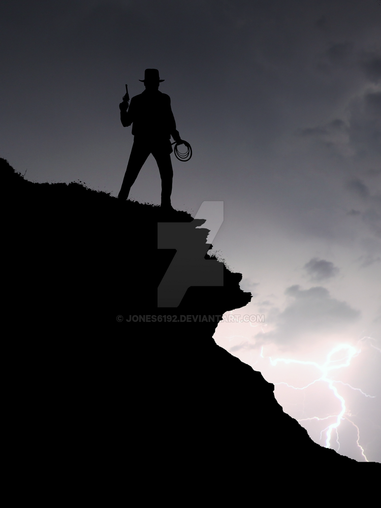 Indiana Jones Silhouette Art by Jones6192