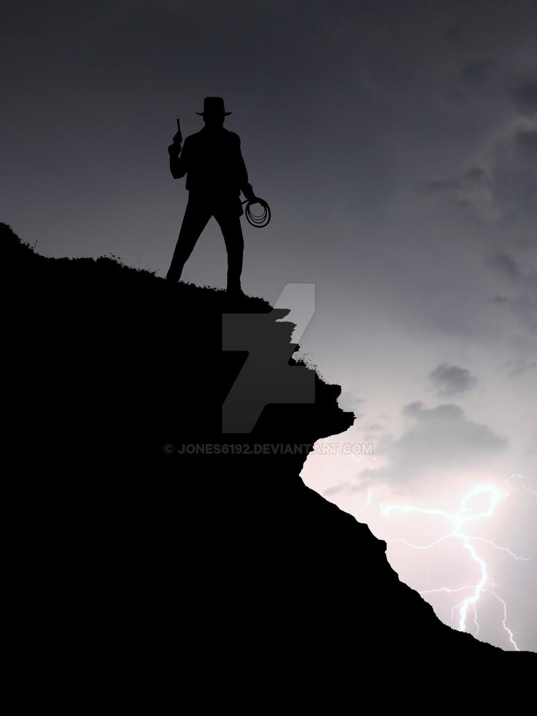 Indiana Jones Silhouette Art by Jones6192
