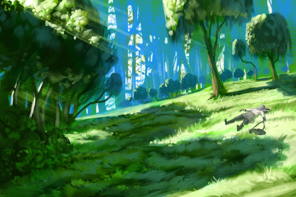 Forest clearing by Chillalord