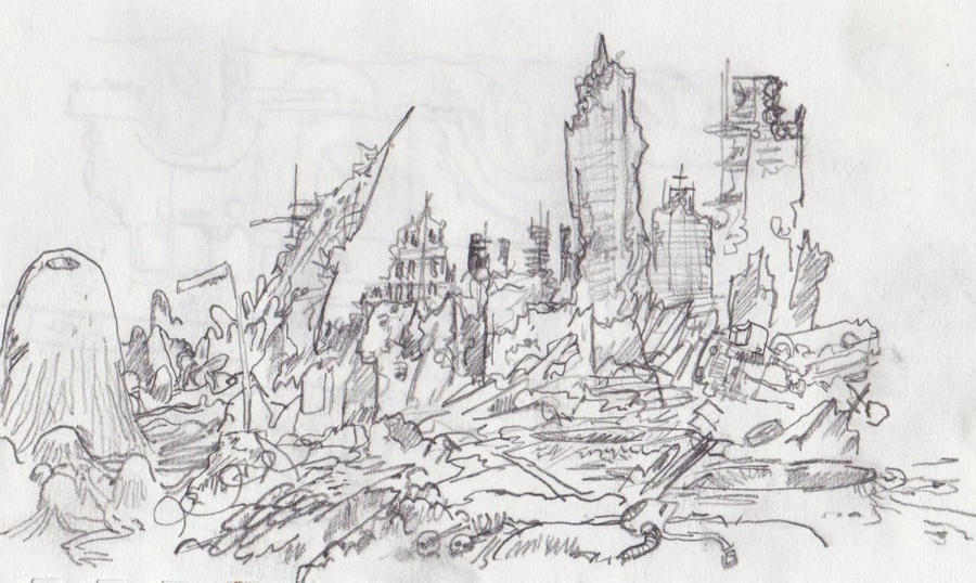 Ruined City By Moltenraven On Deviantart
