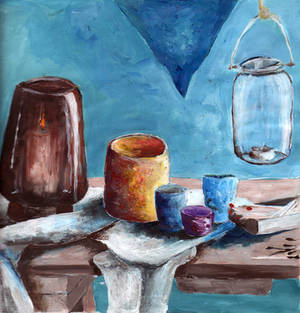 Cezanne-style still life