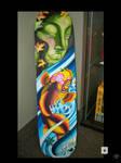 koi and buddha skateboard