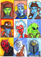 Star Wars Sketch Cards part 2 by jdurden44