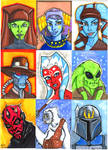 Star Wars Sketch Cards part 2