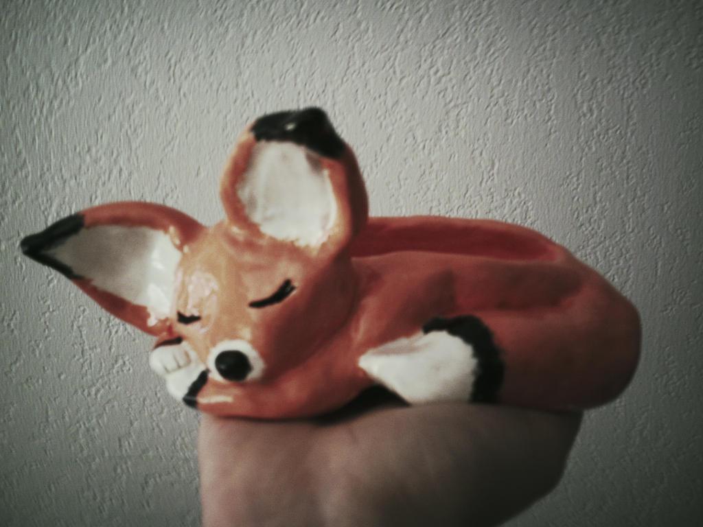 cute fox pinch pot critter by cutieink on deviantart
