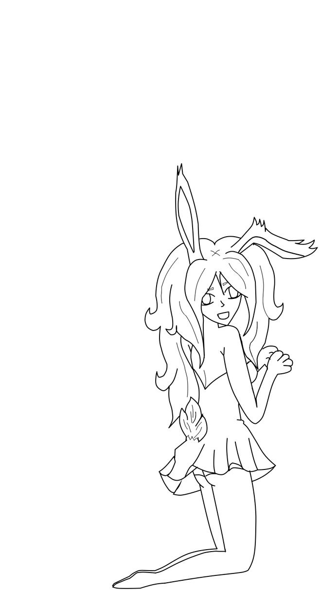 anime bunny coloring pages - photo#10