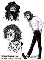 MJ sketch dump 4 by CutieInk