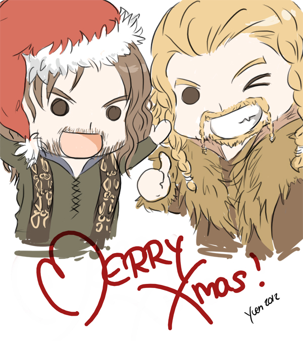 Holiday Happenins The_hobbit___merry_christmas__by_yuen_li-d5p2bvc
