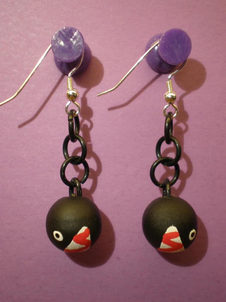 chain chomp earrings by omonomopoeia on deviantart
