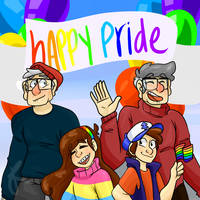 Gravity falls Pride by embersgalixy