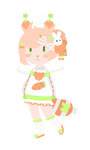 Lineless Chibi Commission for MaybeMafia by cuppaint