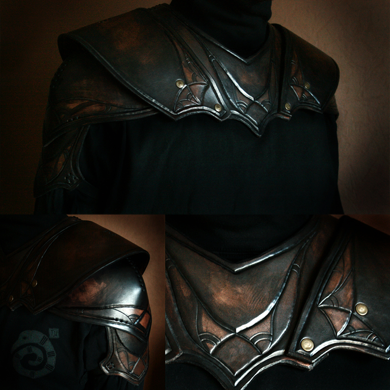 Shoulderguards of Kaer Morhen by Lynfir
