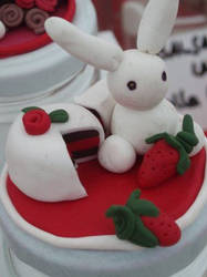 strawberry bunny by StregaEdera