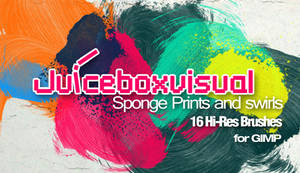 GIMP Sponge Prints and Swirls