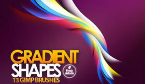 GIMP Gradient Shapes Brushes