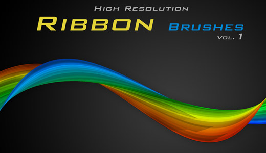 Photoshop Ribon Brushes by Graphicclouds