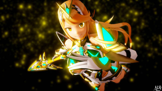 Mythra Strikes and Poses