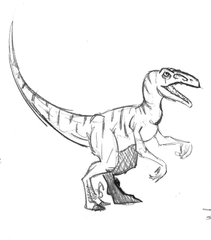 velociraptor coloring page - velociraptor by no wang involved on deviantart