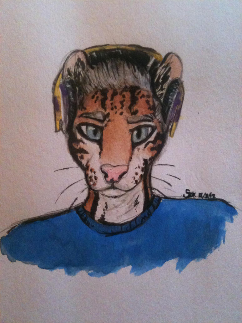 Dylan the Ocelot by XspottedclawX