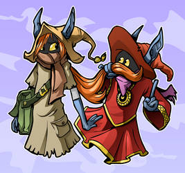 Talia and Orko by mct421