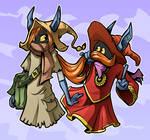 Talia and Orko by mct421