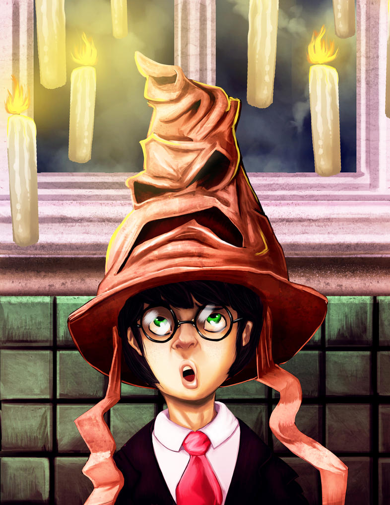 Harry potter and the selector hat by ladrilloso