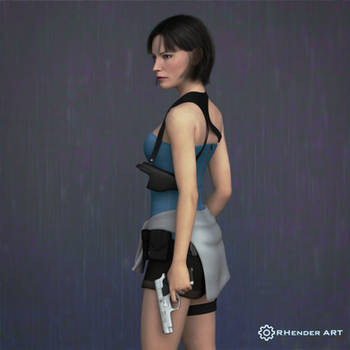 Jill Valentine (V2) - Sienna Guillory_RHENDER ART