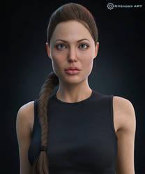 Lara Croft (Portrait) - RHenderART by AndersonGSM