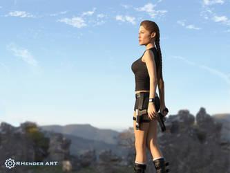 Lara Croft [Wallpaper] - RHenderART by AndersonGSM